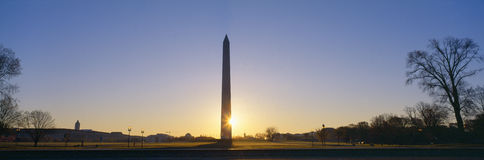 Washington Monument at sunrise Stock Photo