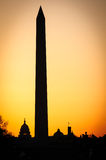 Washington Monument at sunrise Royalty Free Stock Photography