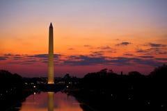 Washington Monument Sunrise Stock Afbeeldingen