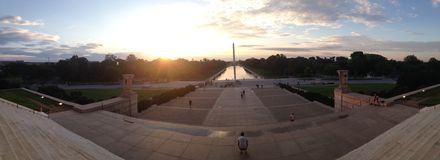 Washington Monument At Sunrise Fotografia Stock