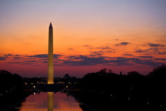 Washington Monument Sunrise Stock Images