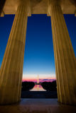 Washington Monument at Sunrise Stock Photography