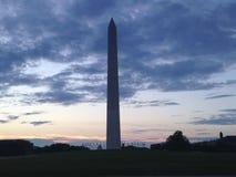 Washington Monument before Sunrise Stock Photography