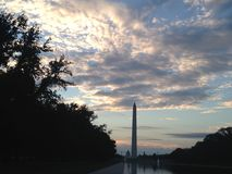 Washington Monument before Sunrise Royalty Free Stock Photos