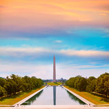 Washington Monument sunrise reflecting pool Royalty Free Stock Photos