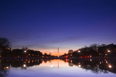 Washington monument at sunset Royalty Free Stock Photos