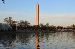 Washington Monument at Sunset. This photo was taken in Washington DC. The Washington Monument is an obelisk on the National Mall in Washington, D.C., built to Royalty Free Stock Photography