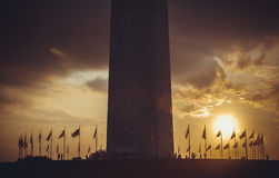Washington Monument at sunset sky, DC, USA royalty free stock photography