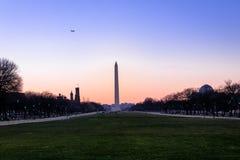Washington Monument at sunset - Washington, D.C., USA Royalty Free Stock Photo