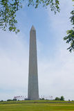 Washington Monument. In sunshine in DC USA Royalty Free Stock Photography