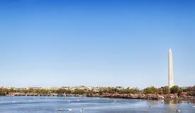 Washington Monument Tidal Basin Stock Photo
