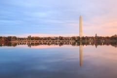 Washington Monument Tidal Basin DC Arkivbilder