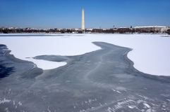 Washington Monument and Tidal Basin in Winter Royalty Free Stock Photography