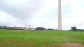 Washington Monument tilting up stock video