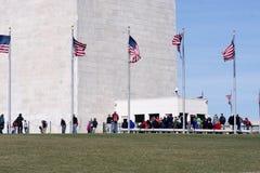 Washington Monument Tour Lizenzfreie Stockfotos