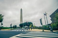 Washington monument towers above washington dc near smithsonian. Washington monument towers  above washington dc near smithsonian museum Royalty Free Stock Image
