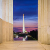 Washington Monument and the U.S. Capitol Building Royalty Free Stock Image