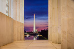 Washington Monument and the U.S. Capitol Building Royalty Free Stock Photos