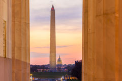Washington Monument and the U.S. Capitol Building Royalty Free Stock Images