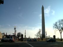 Washington Monument, United States. Washington Monument during the sunny winter day - Washington DC United States stock video