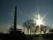 Washington Monument, United States. Washington Monument during the sunny winter day - Washington DC United States stock footage