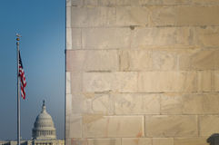 The Washington Monument and US Capitol Stock Images