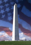 Washington Monument - USA - Flag Stock Image