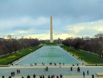 Washington Monument von Lincoln Stockbild