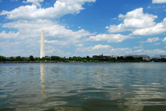Washington Monument in Washington DC. Outdoor view of Washington Monument in Washington DC with beautiful blue sky in background Royalty Free Stock Photography