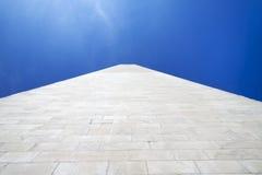 Washington Monument in Washington DC. The side of the Washington Monument in Washington D.C Royalty Free Stock Images