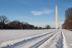 Washington Monument, winter Royalty Free Stock Images