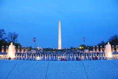 Washington monument WWII memorial, Washington DC. Stock Photography