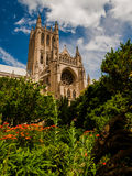 The Washington National Cathedral from the Bishop s Garden, Wash Royalty Free Stock Photography
