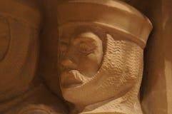 Washington National Cathedral - steengravure Stock Afbeelding