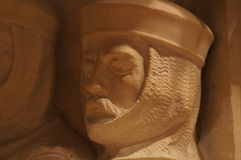 Washington National Cathedral - stone carving. Of  male figure Stock Image
