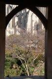Washington National Cathedral - vista del gazebo Fotografie Stock