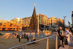 Washington National Harbor Holiday Tree Stock Photo