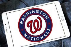 Washington Nationals baseball team logo. Logo of Washington Nationals baseball team on samsung tablet . The Washington Nationals are a professional baseball team Royalty Free Stock Image