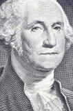 Washington nella macro sull'un dollaro Fotografia Stock Libera da Diritti