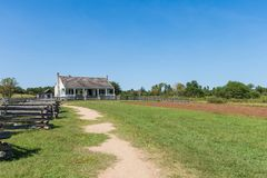 Washington no local histórico do estado de Brazos em Washington, Texa foto de stock royalty free