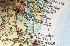 Washington no mapa Foto de Stock