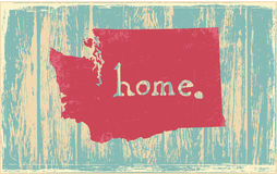 Washington nostalgic rustic vintage state vector sign. Rustic vintage style U.S. state poster in layered easy-editable vector format Stock Photography