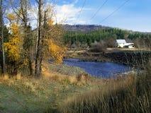 Washington orientale rurale nella caduta in anticipo fotografia stock