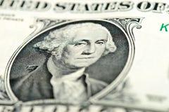 Washington osserva sulla banconota in dollari Fotografie Stock