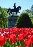 Washington Park en el campo común de Boston imágenes de archivo libres de regalías