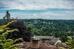 Washington Peak 2. A view of Mount Rainier from Burien, Washington royalty free stock photos