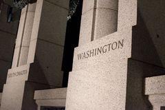 Washington Pillar no memorial de WWII Imagens de Stock Royalty Free