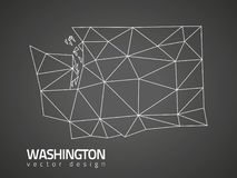 Washington polygonal vektoröversikt vektor illustrationer