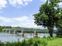 Washington& x27; ponte de cruzamento de s de Pensilvânia a Trenton New Jersey fotos de stock