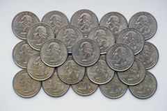 ` Washington Quarter ` - kwartdollar Royalty-vrije Stock Afbeeldingen